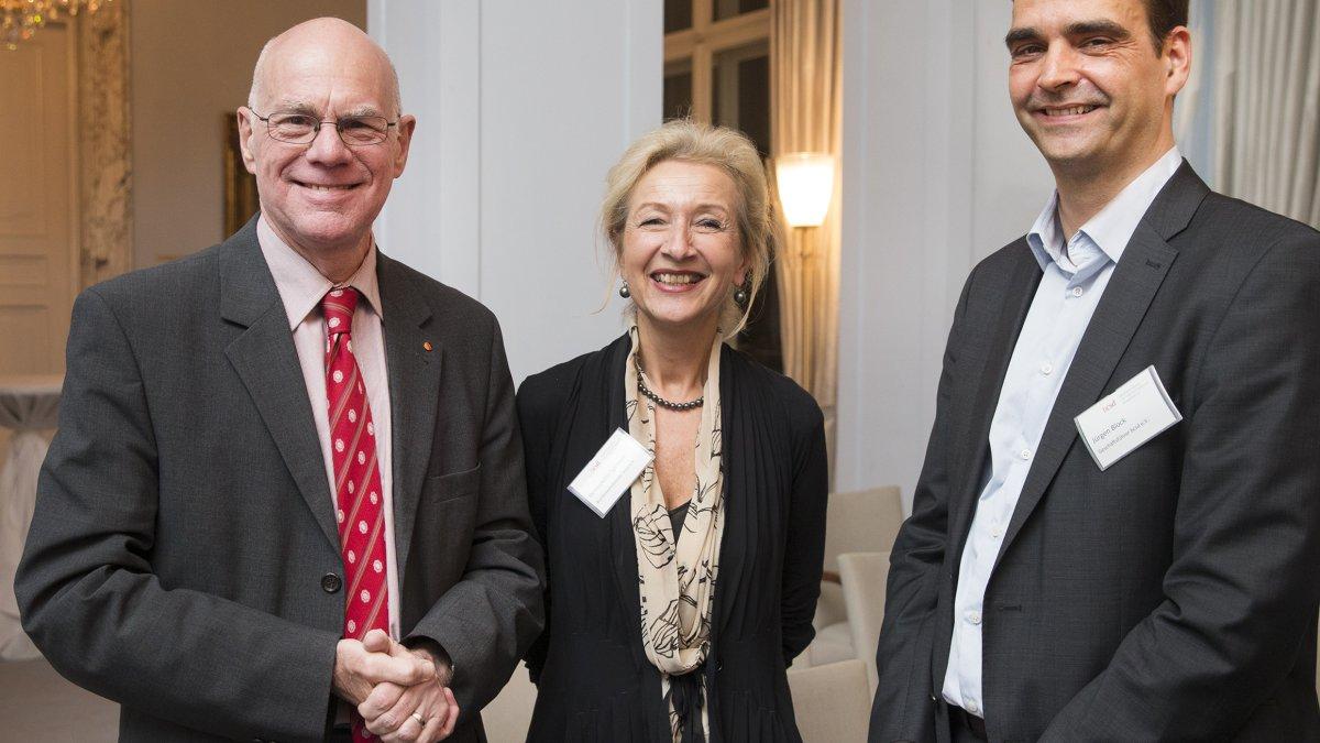 Prof. Dr. Lammert, MdB; Fr. Spinnen; Hr. Block