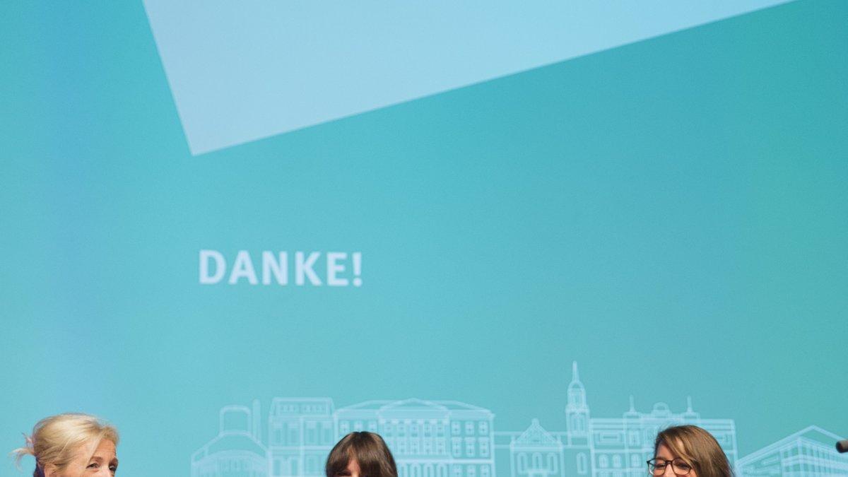 Bernadette Spinnen, Claire Neidhardt und Sarah Frank